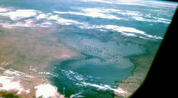 Le lac Tchad vu du ciel