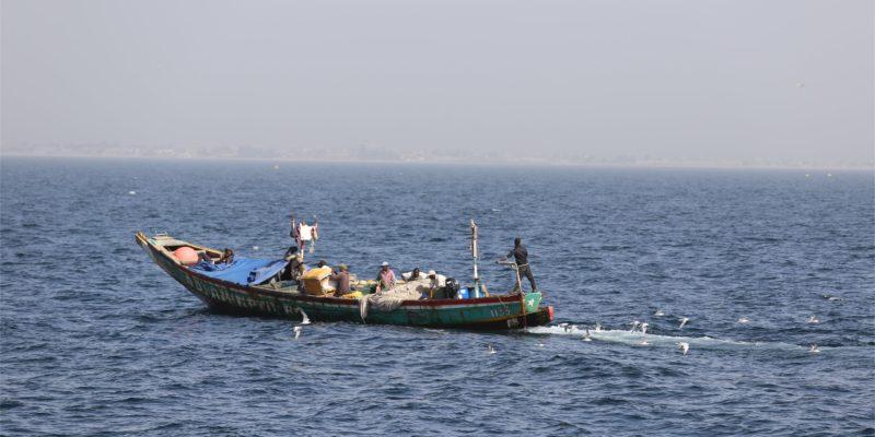 Pêcheurs en mer au Sénégal.