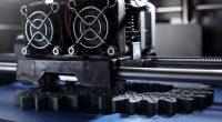 3D printer with grey filament ©Shuttestock