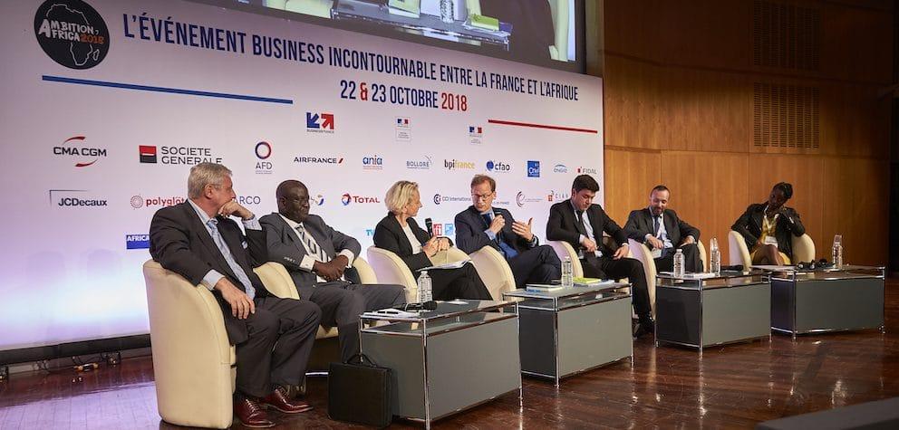 """Ambition Africa 2018 : table ronde """"Eau et déchets"""" © Benoit Frenette"""