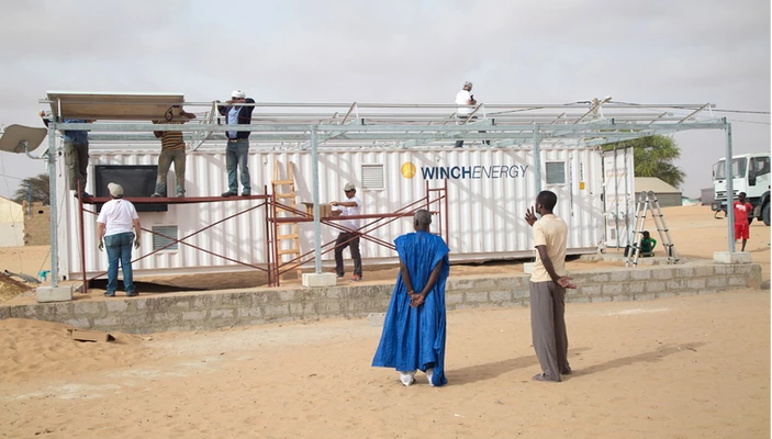AFRICA: Winch launches containerised solar-lit clinics©Winch Energy