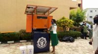 NIGERIA: Solar-powered automatic disinfection device made in Oko©Federal Polytechnic Oko