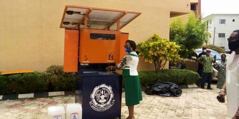 NIGERIA: Solar-powered automatic disinfection device made in Oko