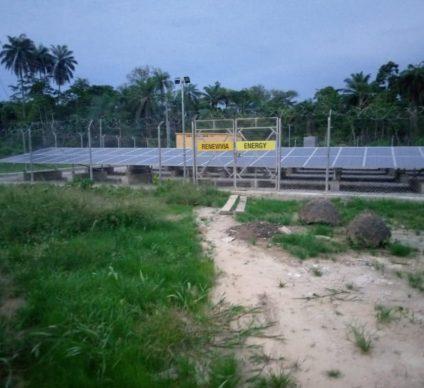 NIGERIA: Renewvia connects two solar mini-hybrid grids in Bayelsa State©Renewvia Energy