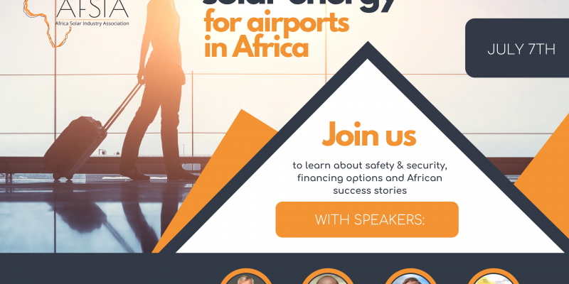 AFRICA: AFSIA organises webinar on solarisation of airports on July 7