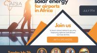 AFRIQUE : l'Afsia organise un webinaire sur la solarisation des aéroports le 7 juillet