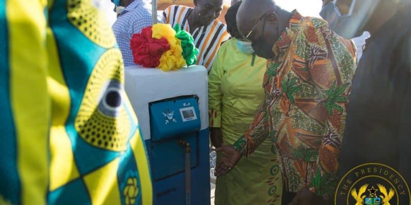 GHANA : le gouvernement inaugure un système d'adduction d'eau potable dans l'Upper West©Présidence de la République du Ghana