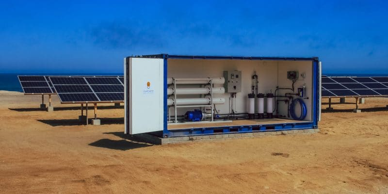 NAMIBIA: a desalinated water bottling plant inaugurated at Henties Bay©Solar Water Solutions