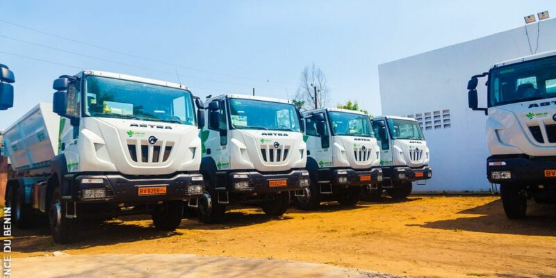 BENIN: SGDS-GN equips itself with 80 trucks to improve waste collection©SGDS-GN