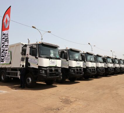 GUINEA: Anasp receives 56 trucks to improve waste collection in Conakry©Presidency of the Republic of Guinea