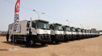GUINÉE : Anasp reçoit 56 camions pour améliorer la collecte des déchets à Conakry©Présidence de la République de Guinée