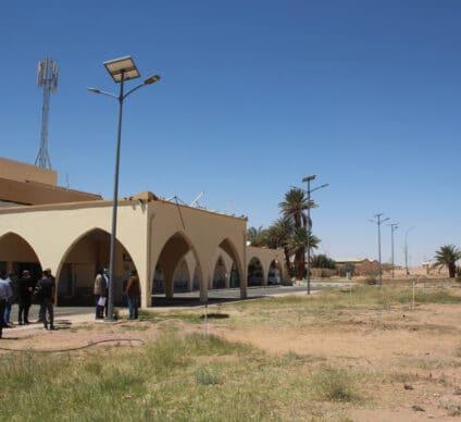 LIBYA: UNDP installs 284 solar street lights at Sebha airport © UNDP