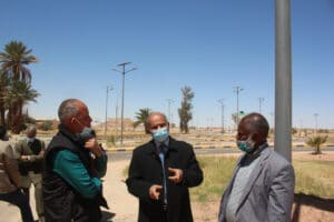 Solar street lights will be installed along 10 km from the airport to the city centre of Sebha © UNDP