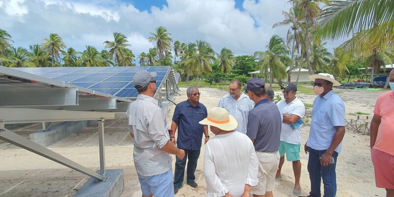 SEYCHELLES: IDC commissions two solar power plants in Astove and Farquhar ©State House Seychelles