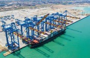 Le terminal à conteneur du port de Tema au Ghana© Bolloré Ports