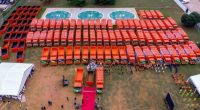 NIGERIA: A fleet of 102 trucks improves solid waste management in Lagos©LANWA