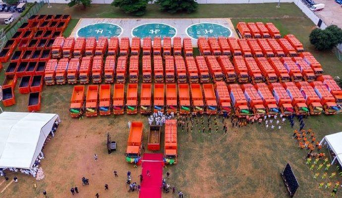 NIGERIA : une flotte de 102 camions améliore la gestion des déchets solides à Lagos©LANWA