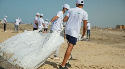 EGYPT: Lafarge Holcim collects plastic waste on Egyptian beaches. ©Lafarge Egypt
