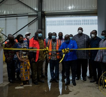 GHANA: A new plant recycles solid waste in the city of Accra©Presidency of the Republic of Ghana