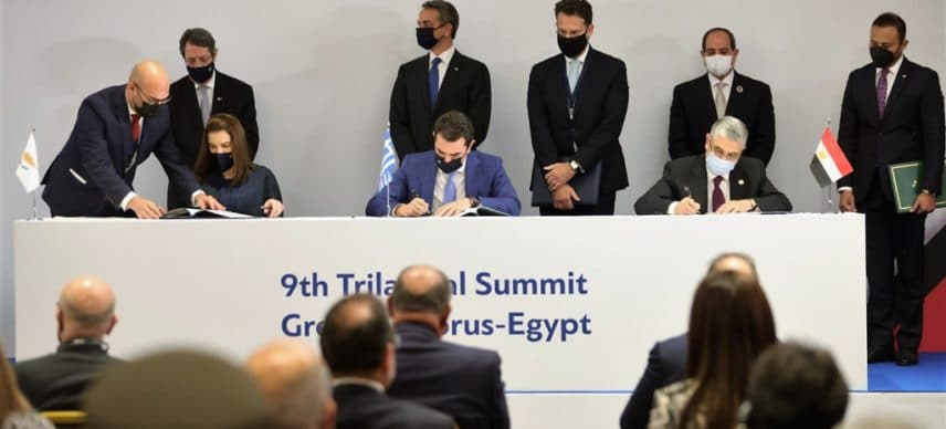 EGYPT: a tripartite agreement for the electricity interconnection with Greece and Cyprus © Nicos Anastasiades